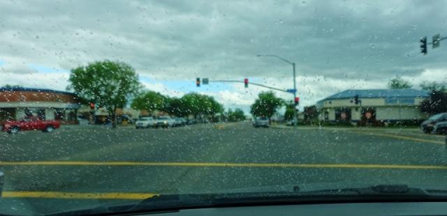 Rain, Windshield, Tracy, California Spring Rain