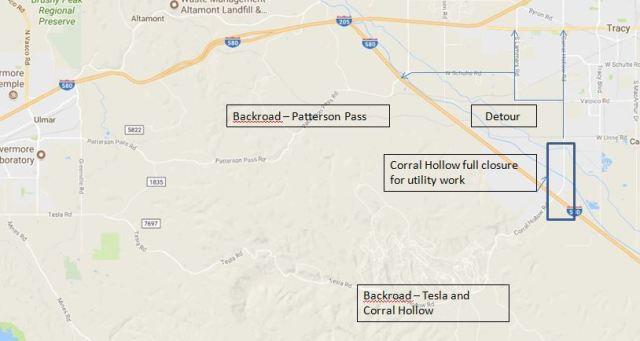 Corral Hollow Closure, Tracy Traffic Troubles, Road Closure, 580 Corridor