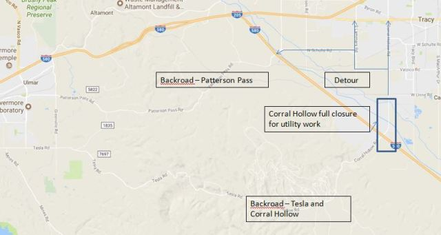 Corral Hollow Closure, Tracy Traffic Troubles, Road Closure, 580 Corridor