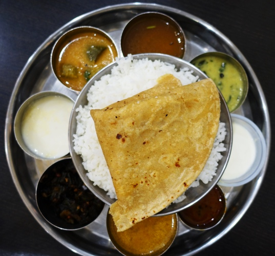 South Indian Thali, Indian Food, Sri Ananda Bhavan, Pleasanton, California