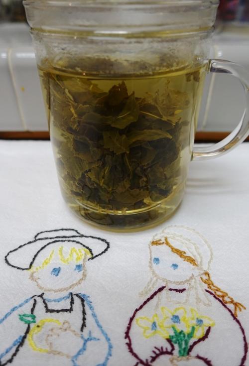 Infuser, tea leaves, Milk Oolong, Fake Milk Oolong