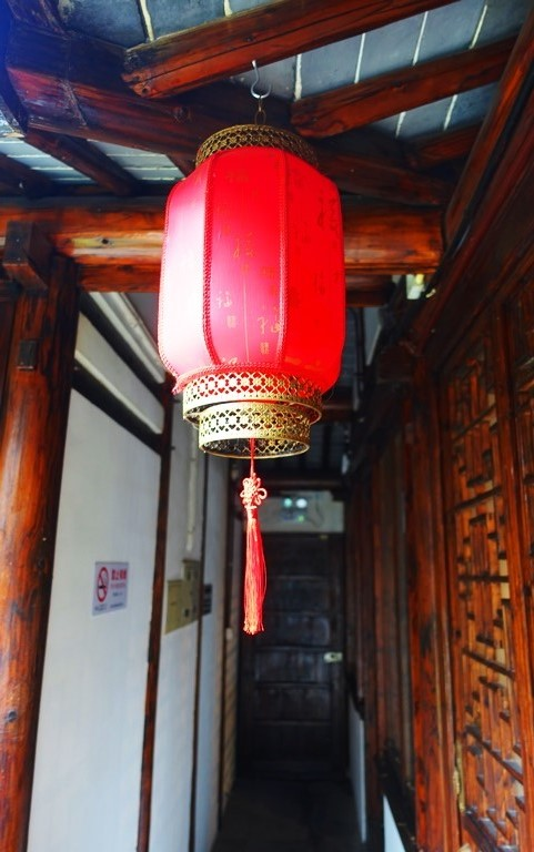 Passageway, hallway, red lantern, Shanghai, China