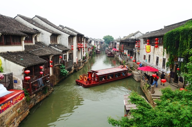 Old Town Suzhou, Canal, River boat, China