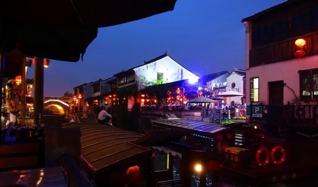 Suzhou Canal at night, Suzhou China, River Boats, Canal Boats