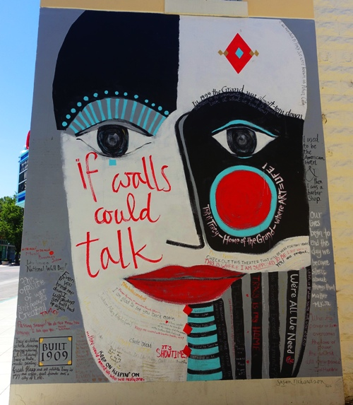 If Walls Could Talk, Tracy Grand Theatre, Mural