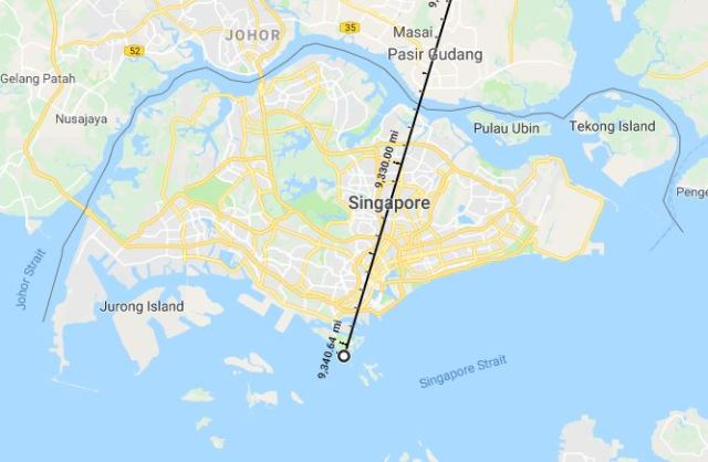 Farthest from birth place, Singapore, World Travel