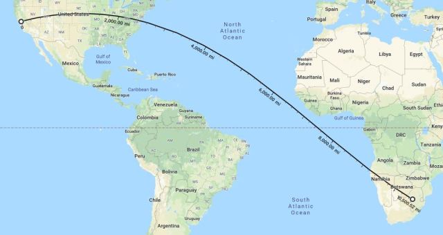 Farthest away from Home, South Africa