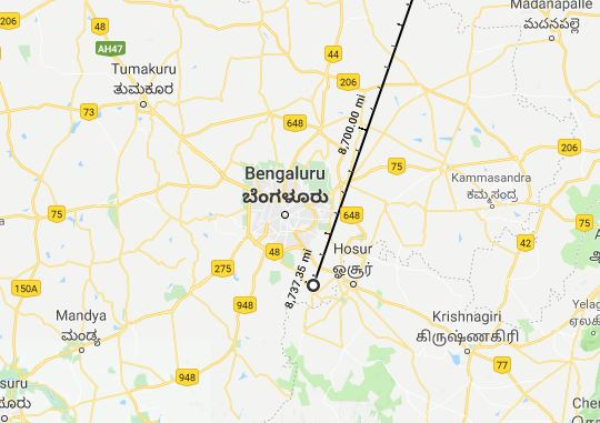 Bangalore, India, Farthest Distance from home?