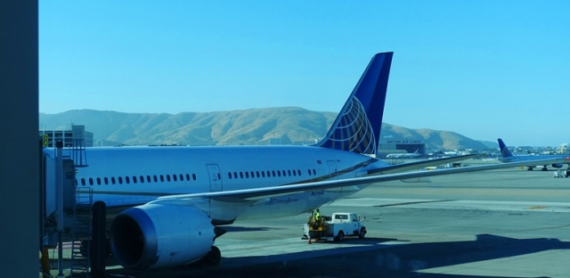 United 787, SFO, Flight to South AFrica