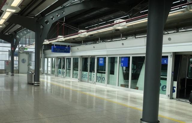 Transit between terminals, Frankfurt Airport