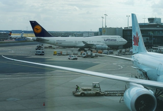 Plane Spotting, Lufthansa Senator Lounge, Frankfurt