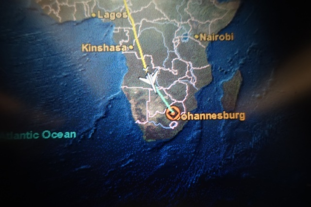 Frankfurt to Johannesburg, Long Flight, Africa, SFO to JNB