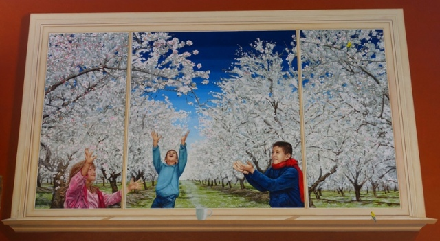 Manteca Snow, Fruit Tree Blossoms, Agriculture, orchards, mural