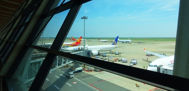 PVG, Pudong Airport, Shanghai, China, United Airlines