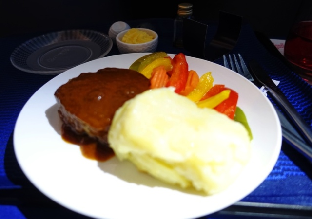 Dinner, United Airlines, Polaris Class