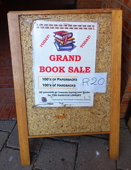 Book Sale, Friends of the library, Sandton, South AFrica