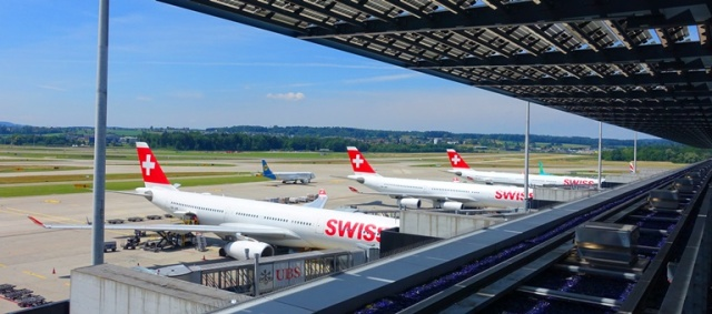Zurich Airport, Swiss Lounge, Outdoor patio