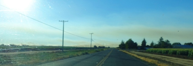 Altamont Fire, Smoke Cloud, Wildfire