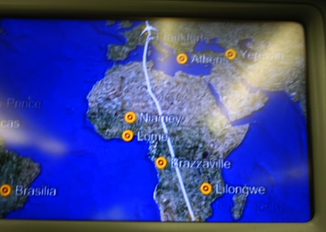 Route Map, JNB to FRA, Africa, 747