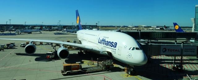 A380, Airbus, Lufthansa, Frankfurt Airport