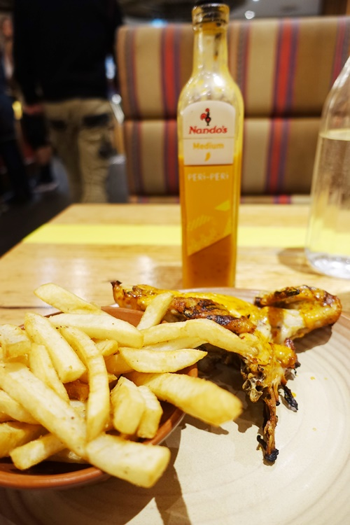 Quarter Chicken, nando's, Chicken and Chips, Medium Sauce