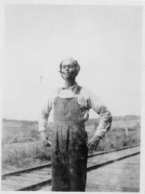 Railroad track, cigar, Uncle Ray, 1919 picture