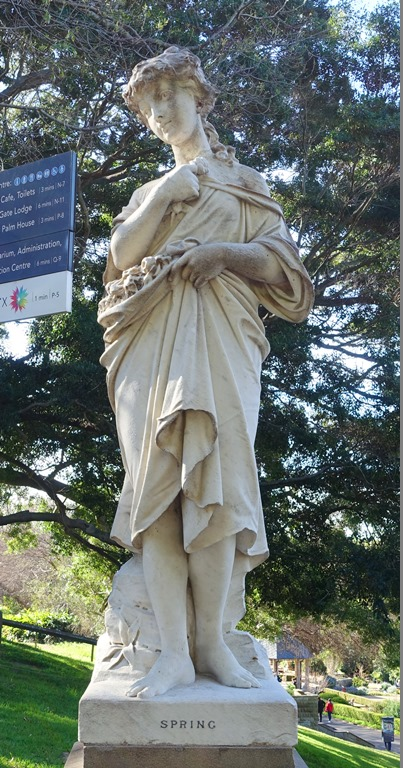 Sydney Botanical Garden, Spring Statue, statues, Italian Marble