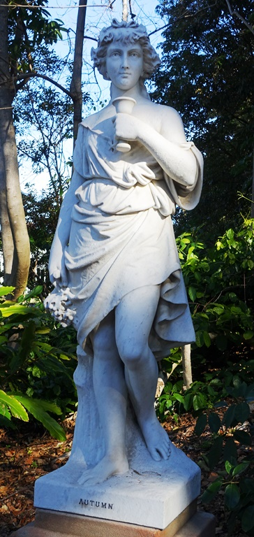 Royal Botanic Gardens, Sydney, Autumn, Statue, Four Seasons
