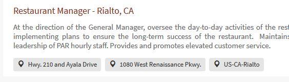 General Manager, Rialto, Cracker Barrel
