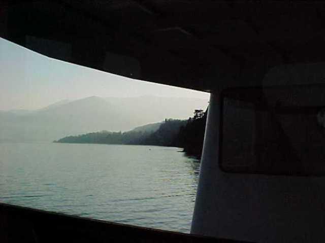 Italy, Lake Como, Ferry, Winter