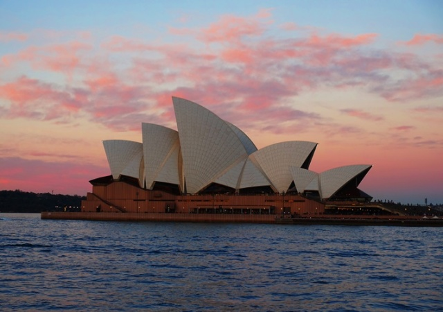 Sydney Opera House, Winter, Sunset, Sydney, Australia