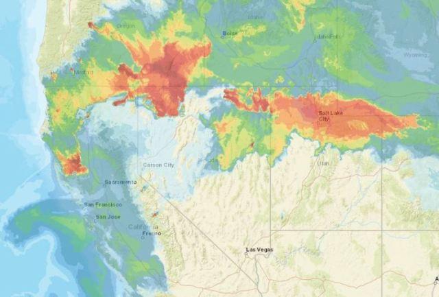 NOAA, Smoke Map, Wildfires