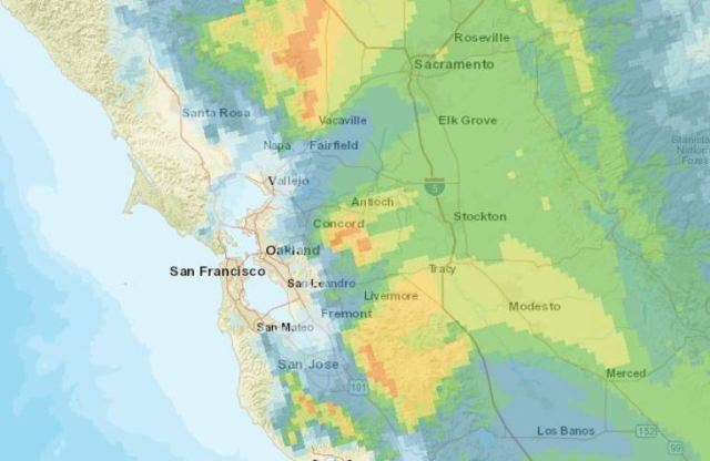 Bay Area Smoke, Heavy Smoke, Bad Air Quality, Wildfires, California