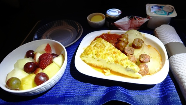 Third Breakfast, Eggs, Sausage, Business Class, United