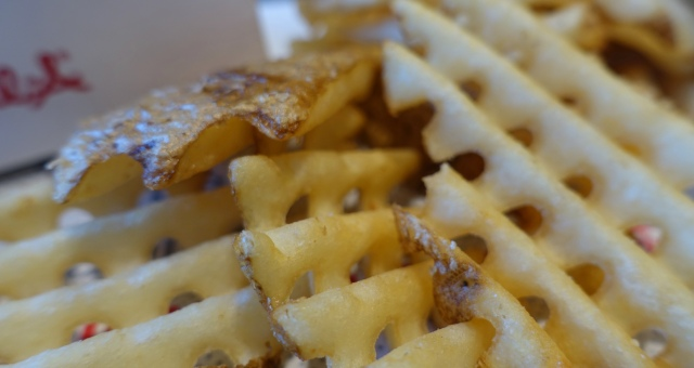 Waffle Cut Fries, Chick-fil-A, Dipping Sauces
