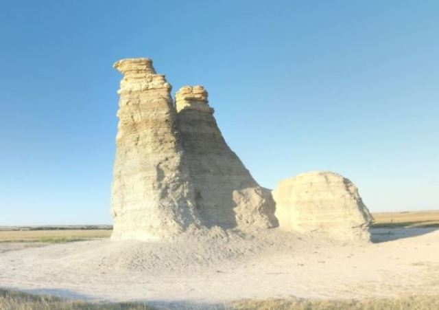 Kansas Badlands, Castle Rock, Rock Formations, Geology