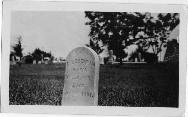 Cochran, Hays, Kansas, Tomb Stone