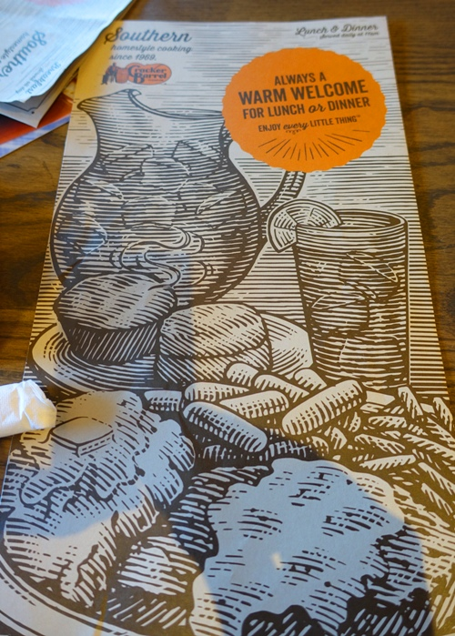 Menu, Cracker Barrel, Sacramento, California Cracker Barrel
