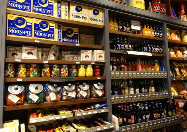 Cracker Barrel, Food Wall, Soda's, Moon Pies, Candy