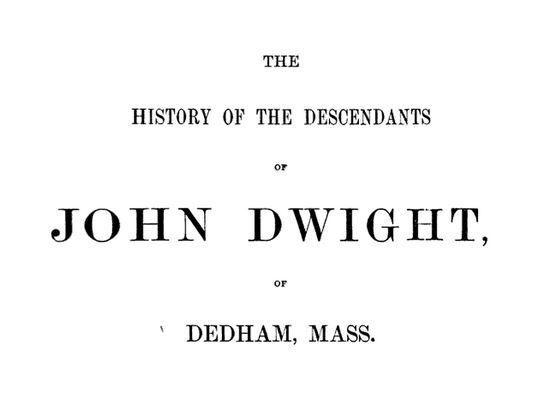 Descendants of John Dwight, Timothy Dwight, Bohea Tea