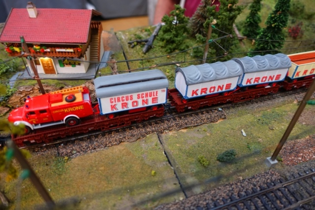 Circus Train, Krone Circus, Model Railroad