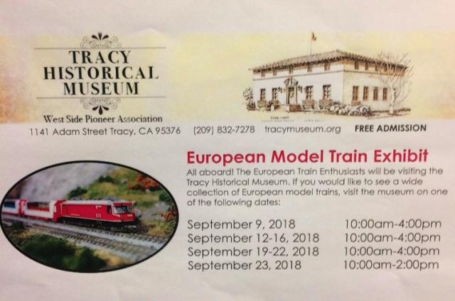 European Model Train Enthusiasts, Tracy, California, Tracy Museum