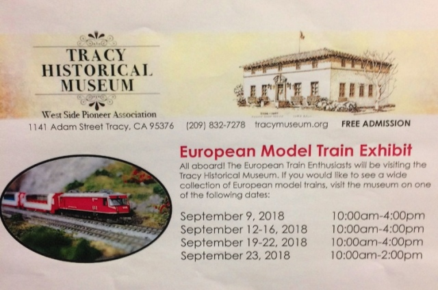 European Model Train Enthusiasts, Tracy, California, Tracy Museum