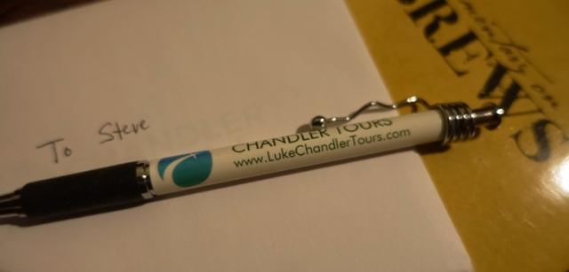 Chandler Tours, Pen, Thank You