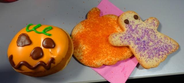 cookies and donuts, halloween, snacks