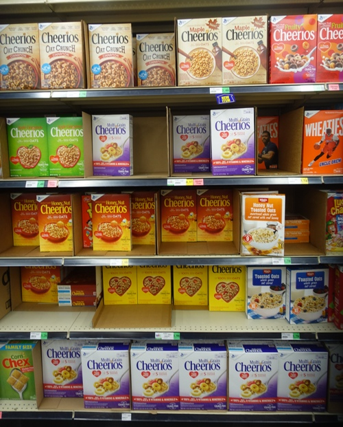 Cheerios Display, Cheerios Flavors, Cereal aisle, food