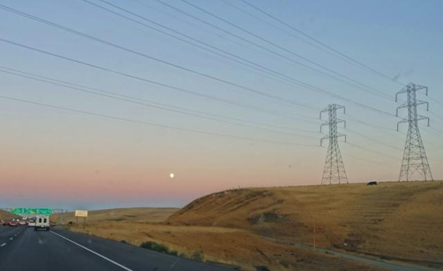 Power Lines, Altamont, Full Moon, Back set
