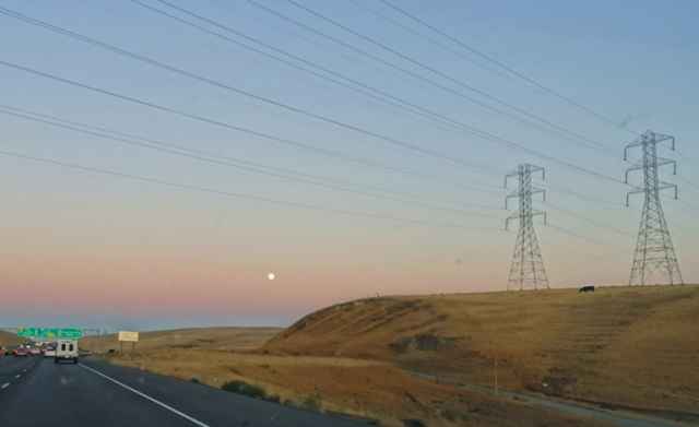 Power Lines, Altamont, Full Moon, Back set