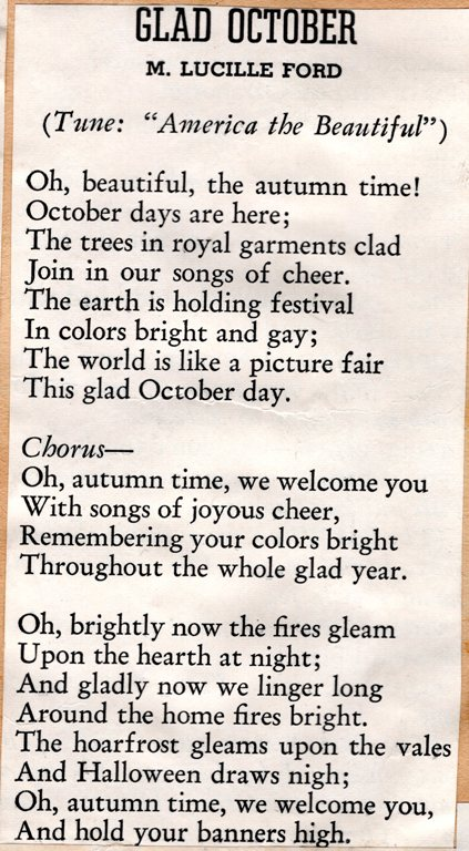 Glad October, poetry, poem, M. Lucille Ford