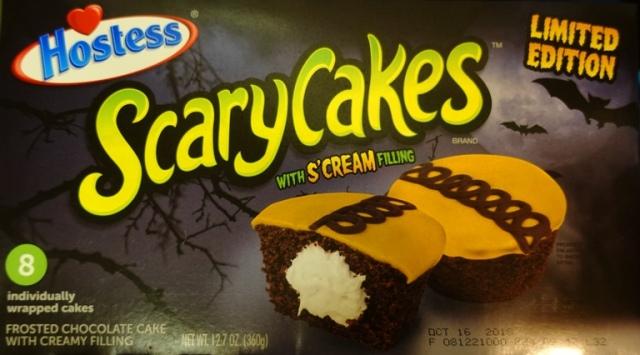 Scarycakes, hostess cupcakes, halloween, snack cakes